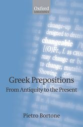 Greek Prepositions: From Antiquity to the Present