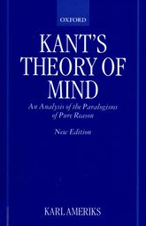 Kant's Theory of MindAn Analysis of the Paralogisms of Pure Reason$