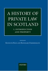 A History of Private Law in Scotland