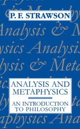 Analysis and MetaphysicsAn Introduction to Philosophy$