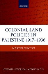 Colonial Land Policies in Palestine, 1917–1936