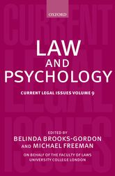 Law and Psychology – Current Legal Issues Volume 9 - Oxford Scholarship Online