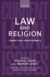 Law and Religion – Current Legal Issues 2001 Volume 4 - Oxford Scholarship Online