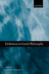 Definition in Greek Philosophy | Oxford Scholarship Online