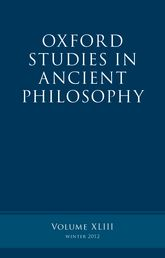 Oxford Studies in Ancient Philosophy, Volume 43