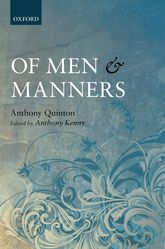 Of Men and MannersEssays Historical and Philosophical$