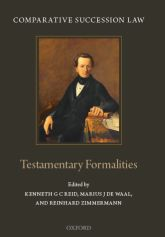 Comparative Succession LawVolume I: Testamentary Formalities